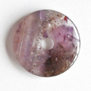 Auralite-23 Crystal Donut Pendant