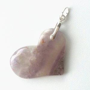 Auralite-23 Crystal Heart Pendant