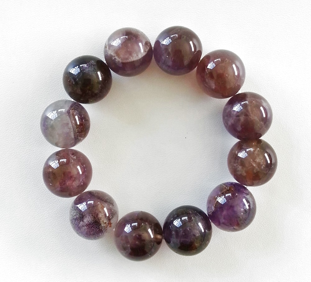 Auralite-23 Crystal Bracelet – 16 mm Beads